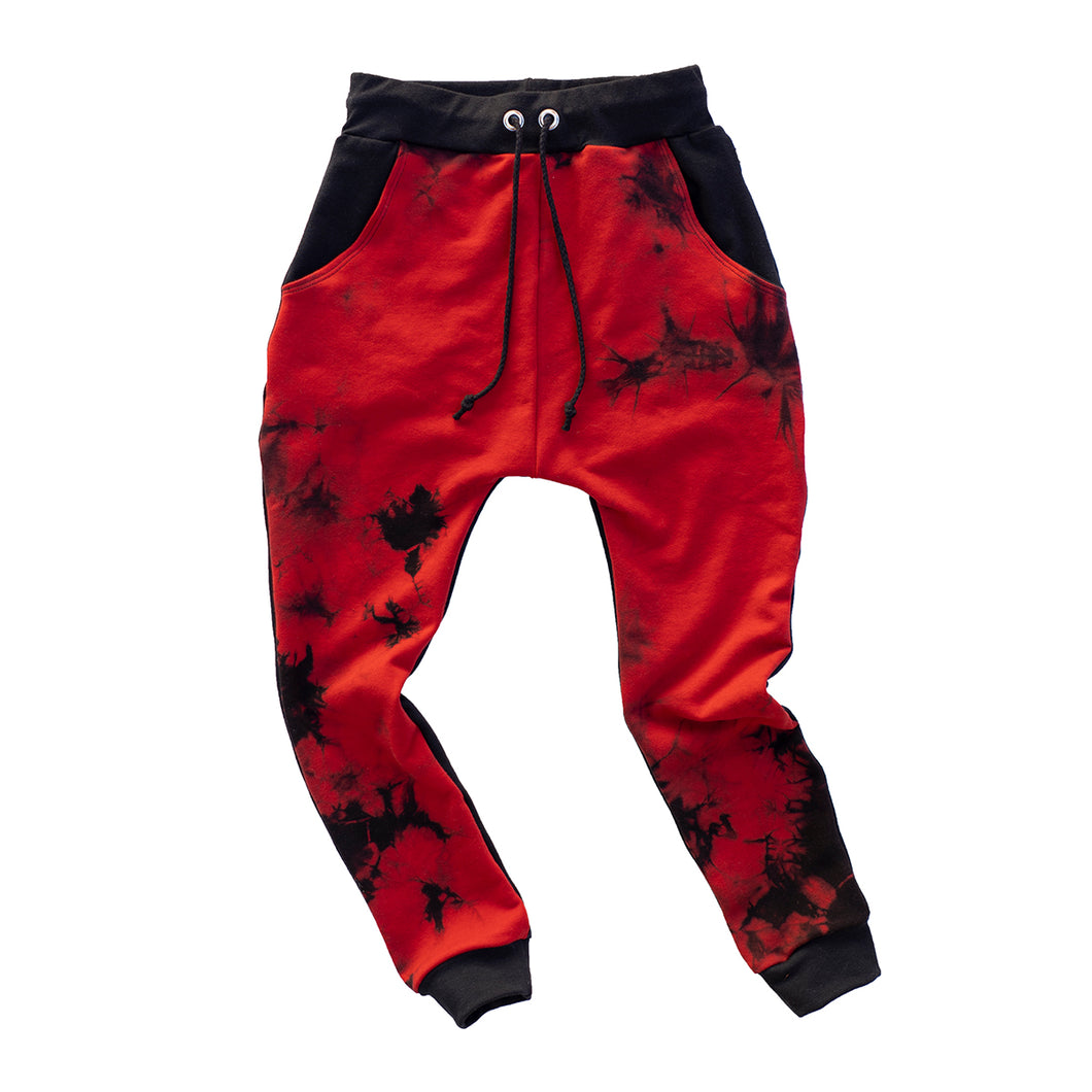 Red Tie Dye Joggers - RTS