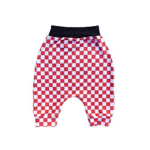 Made to Order - Red & White Checker Harem Shorts