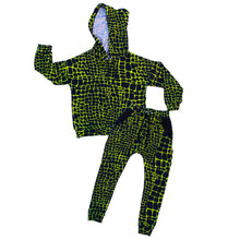 Load image into Gallery viewer, Reptile Drop Shoulder Hoodie