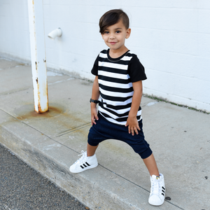 Black & White Stripe Tee