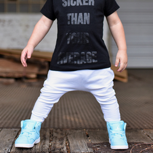 toddler boy toddler girl all white drop crotch harem pants