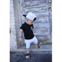Load image into Gallery viewer, toddler boy toddler girl all white harem shorts