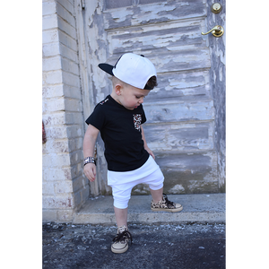 toddler boy toddler girl all white harem shorts