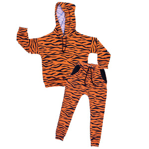 Tiger Drop Shoulder Hoodie