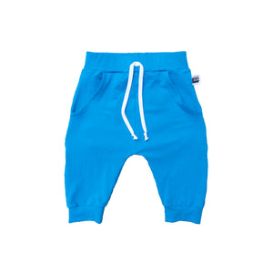 Solid Color Pocket Shorts Turquoise