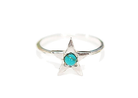 Chibi Jewels_ Turquoise star ring