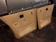 BMW E28 Tan Rear Door Panel Cards Pair 535is 524 533 528e 86 87 88 M20 M21 M30