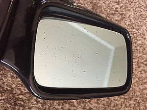 BMW E30 Right & Left BOTH OEM Exterior Power Side Mirrors USED Gloss Black