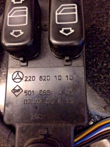 00-02 MERCEDES BENZ S430 S500 W220 OEM LEFT FRONT MASTER CONTROL WINDOW SWITCH