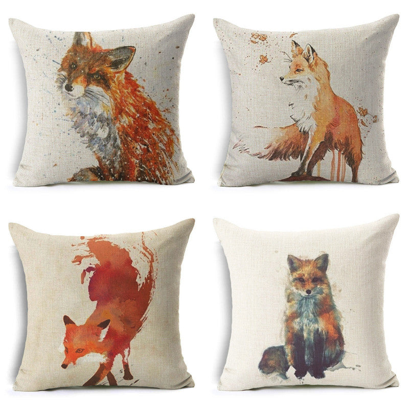 Wild Fox Pillow Cases