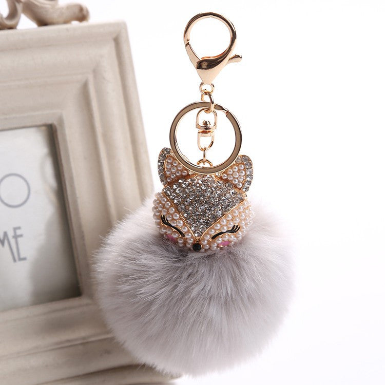 Fluffy Fox Key Chain