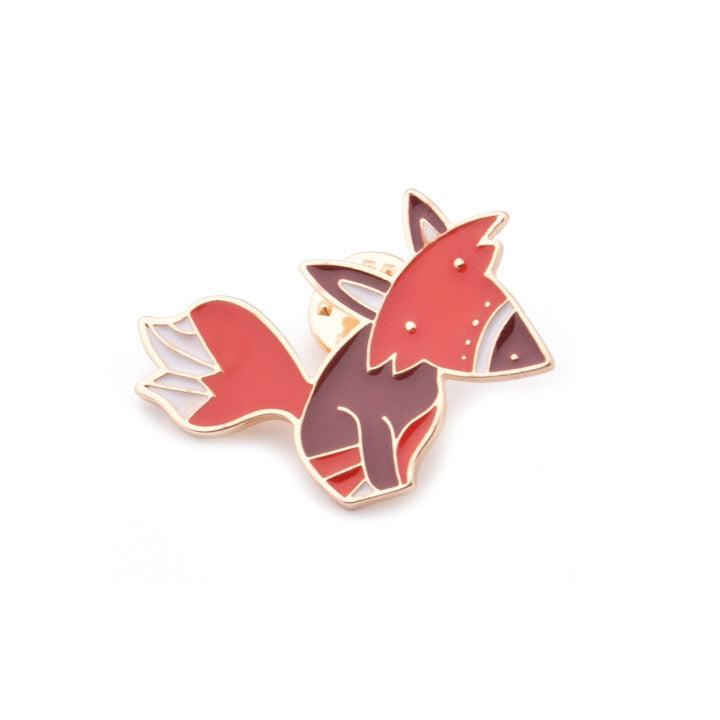 Fun Fox Brooch