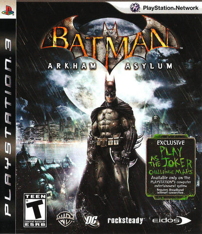 Batman: Arkham Asylum (Playstation 3) Pre-Owned: Game, Manual, and Case
