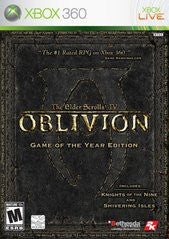 Elder Scrolls IV: Oblivion Game of the Year Edition (Xbox 360) Pre-Owned: Game, Manual, and Case