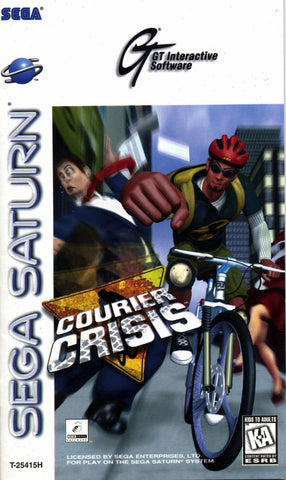 Courier Crisis (Sega Saturn) Pre-Owned: Game, Manual, and Case