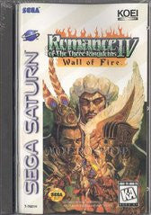 Romance of the Three Kingdoms IV: Wall of Fire (Sega Saturn) Pre-Owned: Game, Manual, and Case