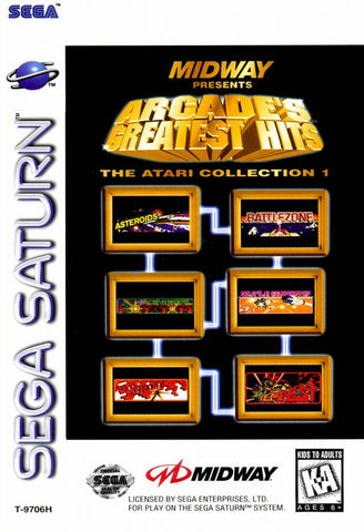 Arcade's Greatest Hits Atari Collection (Sega Saturn) Pre-Owned: Game, Manual, and Case