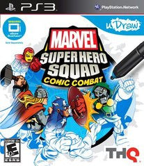 uDraw Marvel Super Hero Squad: Comic Combat (Playstation 3) Pre-Owned: Game, Manual, and Case