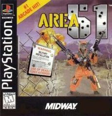 Area 51 (Playstation 1) Pre-Owned: Game, Manual, and Case