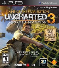 Uncharted 3: Drake's Deception - Game of the Year Edition (Playstation 3) Pre-Owned: Disc(s) Only