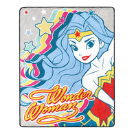 "Wonder Woman - ""Jet Setter"" - Silk Touch Throw Blanket - 40"" x 50"" - NEW"