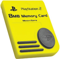 Nyko 8MB Memory Card - Yellow (Sony Playstation 2) Pre-Owned