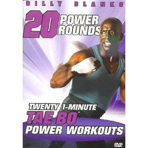 Billy Blanks Tae Bo 20 Power Rounds (2011) (DVD / Exercise) NEW