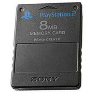 Official 8MB Memory Card - Black (Sony Playstation 2) Pre-Owned