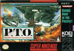 P.T.O. Pacific Theater of Operations (Super Nintendo) Pre-Owned: Cartridge Only