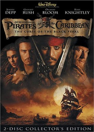 Pirates of the Caribbean: The Curse of the Black Pearl (Two-Disc Collector's Edition) (2003) (DVD / Movie) Pre-Owned: Disc(s) and Case