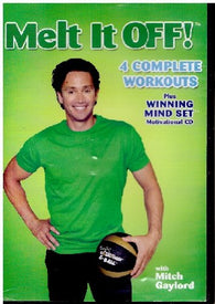 Melt It Off! - 4 Complete Workouts Plus Winning Mindset Motivational CD with Mitch Gaylord (DVD) Pre-Owned