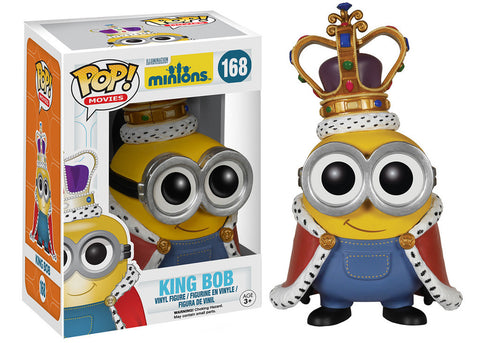 Funko POP! Figure - Movies #168: Minions - King Bob - NEW 1