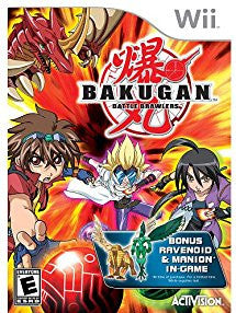 Bakugan: Battle Brawlers w/ Exclusive Bonus Ravenoid & Manion In-Game (Nintendo Wii) NEW