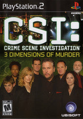 CSI: 3 Dimensions of Murder (Playstation 2) Pre-Owned: Game, Manual, and Case