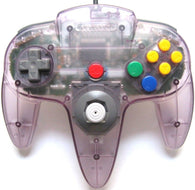 Official Nintendo Wired Controller - Atomic Purple (Nintendo 64 Accessory) Pre-Owned
