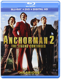 Anchorman 2: The Legend Continues (Blu Ray) Pre-Owned: Blu Ray and Rental Case