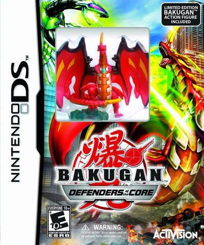 Bakugan Battle Brawlers: Defenders of the Core with Limited Edition Bakugan Action Figure (Nintendo DS) NEW
