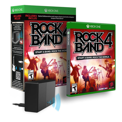 Rock Band 4 w/ Controller Adapter (Xbox One) NEW
