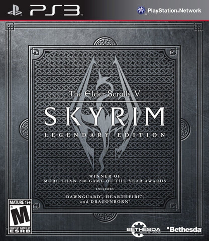 Elder Scrolls V: Skyrim Legendary Edition (Playstation 3 / PS3) Pre-Owned: Game, Manual, and Case