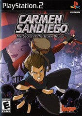 Carmen Sandiego The Secret of the Stolen Drums (Playstation 2 / PS2) Pre-Owned: Game, Manual, and Case