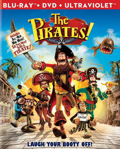 The Pirates! Band of Misfits (Blu-ray + DVD Combo) Pre-Owned