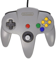 Official Nintendo Wired Controller - Grey (Nintendo 64 Accessory) Pre-Owned