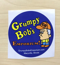 Grumpy Bob's Round Sticker - NEW