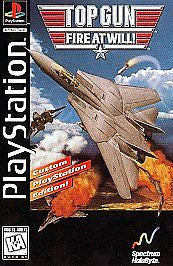 Top Gun Fire at Will (Playstation 1) Pre-Owned: Game, Manual, and Longbox Case