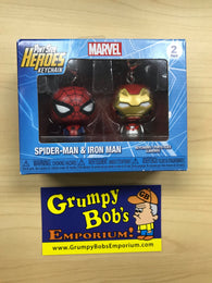 Pint Size Heroes KEYCHAINS: Spider-Man & Iron Man - Marvel (Funko) Figures and Original Box