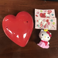 Hello Kitty: Valentine Figure in Heart Capsule (Toy) - Pre-owned/Complete