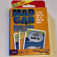 Mad Gab Picto-gabs Card Game From the Makers of UNO - Complete
