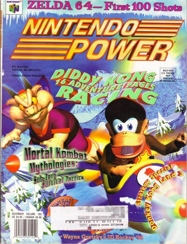 Issue: Dec 1997 / Vol 103 (Nintendo Power Magazine) Pre-Owned: Complete - Bagged & Boarded
