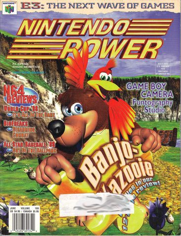 Issue: June 1998 / Vol 109 (Nintendo Power Magazine) Pre-Owned: Complete - Bagged & Boarded