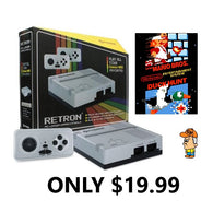 RetroN 1 Gaming Console for NES (Grey) (Hyperkin) NEW + Super Mario Bros./Duck Hunt